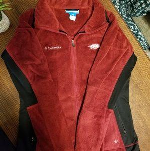 Red Furry Razorback Columbia Jacket